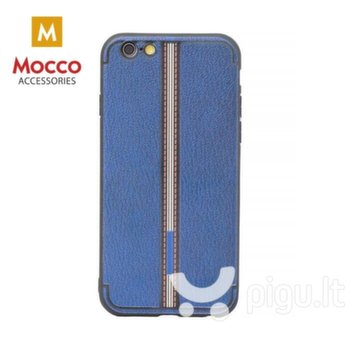 Apsauginis dėklas Mocco Trendy Grid And Stripes Silicone Back Case Samsung G950 Galaxy S8 Blue (Pattern 3)