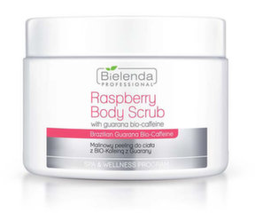 Малиновый скраб для тела с гуараной BIO-кофеином Bielenda Professional Spa & Wellness Raspberry moterims 550 г