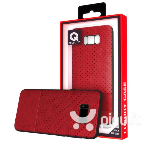 Apsauginis dėklas Qult Luxury Drop Back Case Silicone Case Samsung G965 Galaxy S9 Plus Red