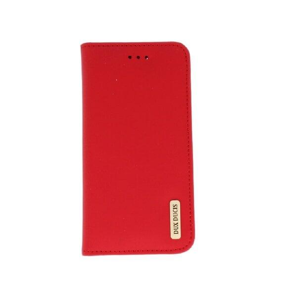 Atverčiamas odinis dėklas Dux Ducis Wish Magnet Case, skirtas Apple iPhone X telefonui, raudonas kaina ir informacija | Telefono dėklai | pigu.lt
