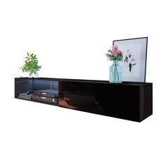 Pakabinamas TV staliukas Leo 200 cm, juodas