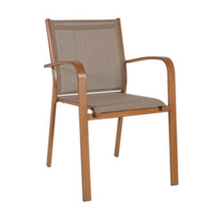 Kėdė Sailor, pilka/ruda kaina ir informacija | Lauko kėdės, foteliai, pufai | pigu.lt