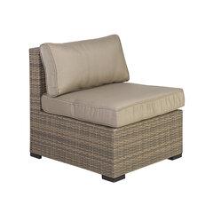 Lauko fotelis Sevilla, rudas kaina ir informacija | Lauko kėdės, foteliai, pufai | pigu.lt