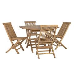 Lauko baldų komplektas Rosy, rudas