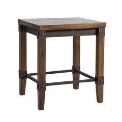 Taburetė Opus, ruda/juoda kaina ir informacija | Virtuvės kėdės | pigu.lt