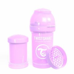 Buteliukas Twistshake Anti-Colic, 180 ml, pastel purple