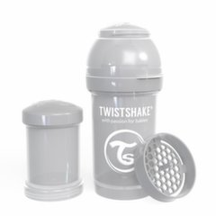 Buteliukas Twistshake Anti-Colic, 180 ml, pastel grey