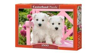 "Dėlionė ""White Terrier Puppies"" Castorland, 1500 d."