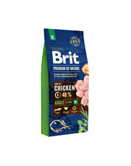 BRIT Premium By Nature Adult Extra Large XL, 15 kg kaina ir informacija | BRIT Premium By Nature Adult Extra Large XL, 15 kg | pigu.lt
