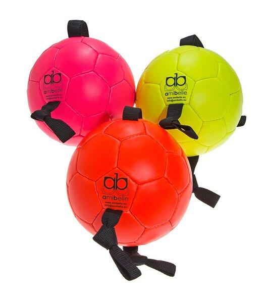 Amibelle pripučiamas kamuolys šunims, geltonas 16 cm kaina