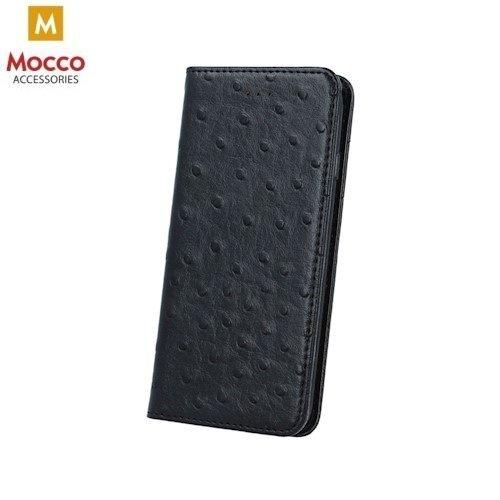 Apsauginis dėklas-knygutė Mocco Smart Dots, skirtas LG K10 (2017), juodos spalvos