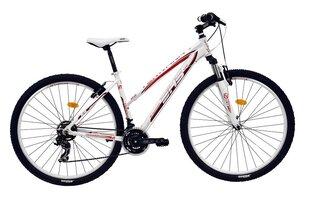 """Prekė su pažeista pakuote. Moteriškas kalnų dviratis DHS Terrana 2922 29"""" 2017, baltas-raudonas"""