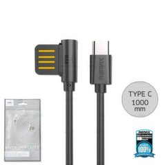 Remax Rayen RC-075a Universal Silicone USB to Type-C Data & Charger Cable 1m Black