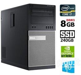 DELL 7010 MT i7-3770 8GB 240SSD GT1030 2GB DVDRW WIN10Pro