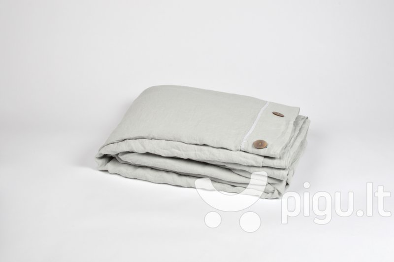 Lininis užvalkalas antklodei Breeze Light Grey, 1 vnt