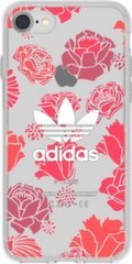 Adidas Clear Case Silicone Case skirtas Apple iPhone 6 / 6S / 7 / 8 Red Flowers (EU Blister)