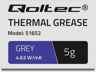 Qoltec Thermal grease 4.63W / m-K | 5g | Gray (51652)