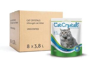Kačių kraikas Cat Crystals Silika 3,8L x 8 pak, bekvapis