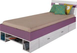 Lova Next 19, 200x90 cm, balta/violetinė kaina ir informacija | Vaiko kambario baldai | pigu.lt