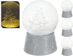 Šviečiantis stiklinis 3D sniego burbulas