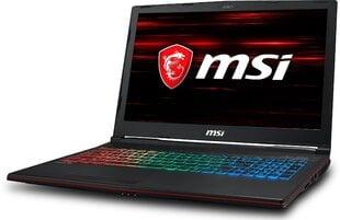 MSI GP63 8RE-060XPL 32 GB RAM/ 512 GB M.2 PCIe/ 1TB HDD/ kaina ir informacija | Nešiojami kompiuteriai | pigu.lt
