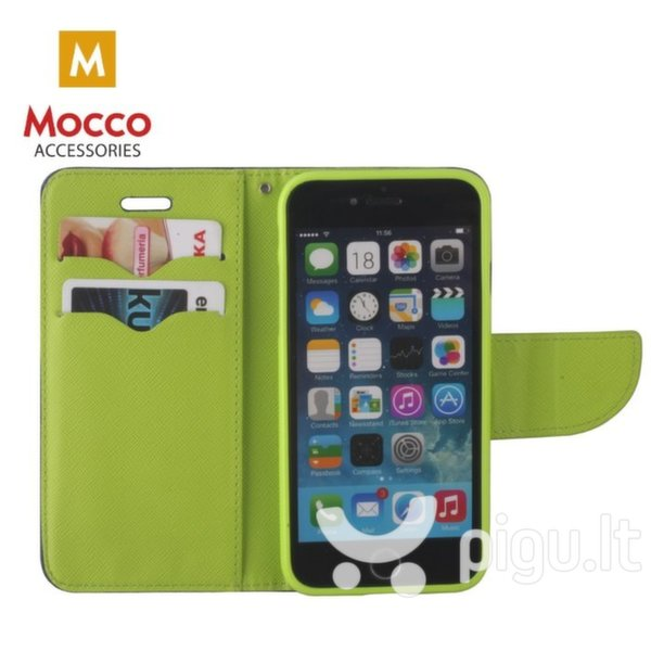 Mocco Fancy Book Case For Apple iPhone XR Blue - Green atsiliepimas