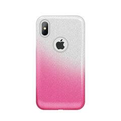 Gradient Glitter 3in1 dėklas telefonui iPhone 6 / iPhone 6srožinis kaina ir informacija | Telefono dėklai | pigu.lt