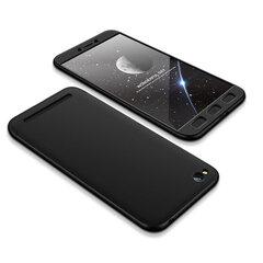 360 Telefono apsauga iš priekio ir galo, telefono dėklas Xiaomi Redmi 5A juodas kaina ir informacija | 360 Telefono apsauga iš priekio ir galo, telefono dėklas Xiaomi Redmi 5A juodas | pigu.lt