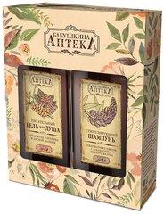 Kosmetikos rinkinys Babuškina Apteka: šampūnas 350 ml + dušo želė 350 ml