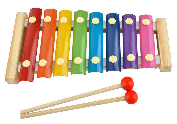Spalvotas ksilofonas kaina