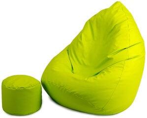 Sėdmaišis su pufu Mega Comfort, žalias kaina ir informacija | Sėdmaišiai ir pufai | pigu.lt