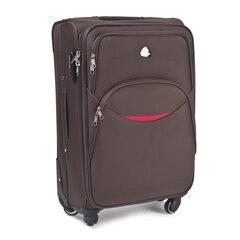Mažas lagaminas Wings 1708-4 S, tamsiai rudas kaina ir informacija | Mažas lagaminas Wings 1708-4 S, tamsiai rudas | pigu.lt