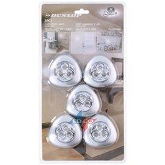 Dunlop naktinės lemputės 3 Led 5 vnt kaina ir informacija | Sieniniai šviestuvai | pigu.lt