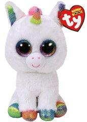 Pliušinis žaislas TY Beanie Boos PIXY, baltas vienaragis, 15 cm, 36852