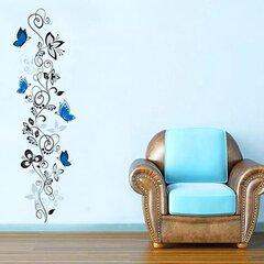 """Interjero lipdukas """"Gėlė su mėlynais drugeliais"""""""