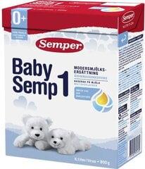 Pradinio maitinimo pieno mišinys Semper BabySemp1, nuo gimimo, 800 g kaina ir informacija | Pradinio maitinimo ir specialios paskirties mišiniai | pigu.lt