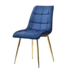 Kėdė Briare, mėlynos/aukso spalvos kaina ir informacija | Virtuvės ir valgomojo kėdės | pigu.lt