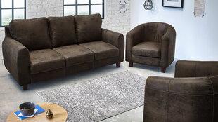 Baldų komplektas 3+1+1 BoboChic Felicita II, tamsiai rudas kaina ir informacija | Sofos, foteliai ir minkšti kampai | pigu.lt