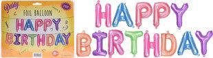 Foliniai balionai Happy Birthday 40 cm, 13 vnt.