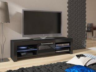 RTV staliukas Flex, juodas kaina ir informacija | TV staliukai | pigu.lt
