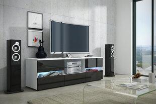 TV staliukas Global II, baltas/juodas kaina ir informacija | TV staliukai | pigu.lt
