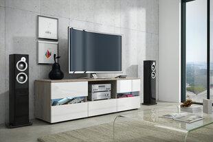 TV staliukas Global II, ąžuolo/baltos spalvos kaina ir informacija | TV staliukai | pigu.lt