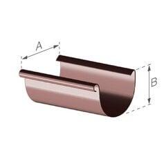 Желоб GAMRAT ПВХ 100 (1) - длина 2 м, коричневый (RAL 8019) цена и информация | Водосточные системы | pigu.lt