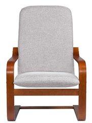 Fotelis Ania Es, pilkas/rudas kaina ir informacija | Svetainės foteliai | pigu.lt