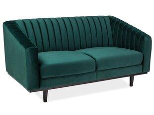 Sofa Asprey 2, žalia kaina ir informacija | Sofos, foteliai ir minkšti kampai | pigu.lt