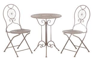 Lauko baldų komplektas Angelika, pilkas kaina ir informacija | Lauko baldų komplektai | pigu.lt