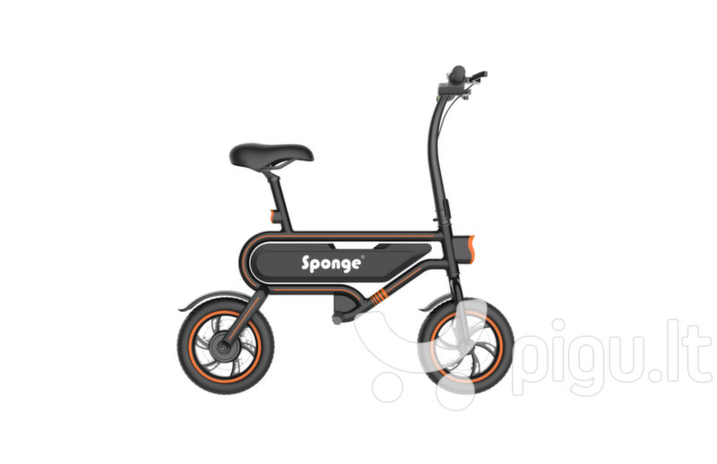 Elektrinis dviratis Sponge City 12'', juodas/oranžinis