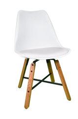 2-jų kėdžių komplektas KD56-B, baltos/ąžuolo spalvos