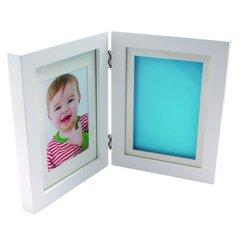 Prisiminimų rinkinys: rėmelis nuotraukai ir antspaudui Smiki, baltas
