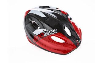 Vaikiškas dviratininko šalmas Dino Bikes, juodas/raudonas